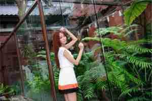 小清新美女Winnie小雪迷人短裙街拍照
