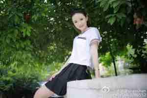 清纯美女校花杨珊珊微博清新写真