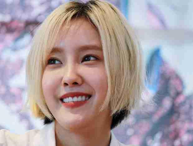 韩国女星朴孝敏气质短发写真