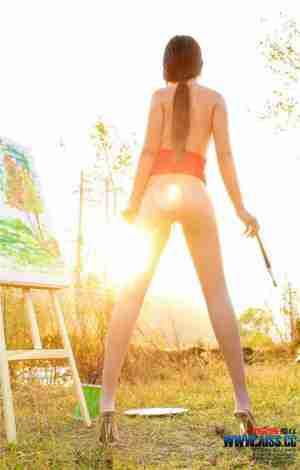 人体模特小茹的美丝性感艺术之旅图片
