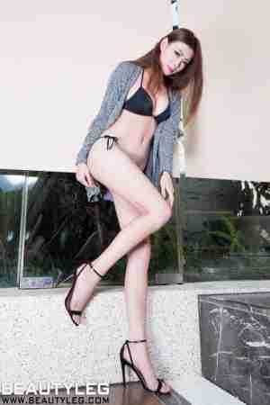 BeautyLeg腿模Zoey玉足高跟美腿