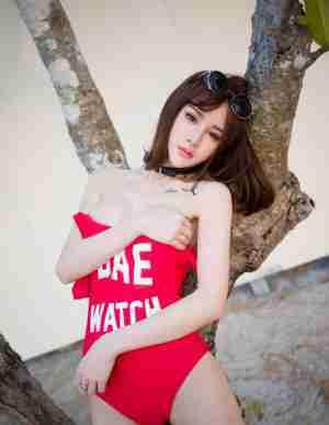 90后性感美女Cheryl青树-透明内裤裆可以看到毛