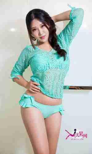 [Ugirls爱尤物]御姐佩佩绿色内裤写真