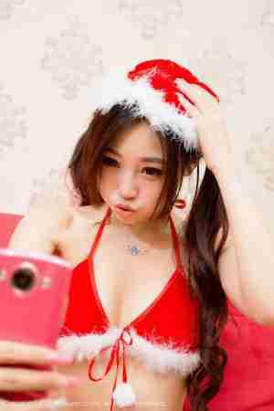 沫晓伊baby圣诞服写真诱惑