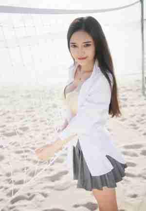 越南心愿唐琪儿 海边白寸衫短裙系列