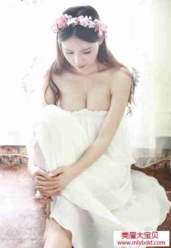 超美混血披上婚纱的时候