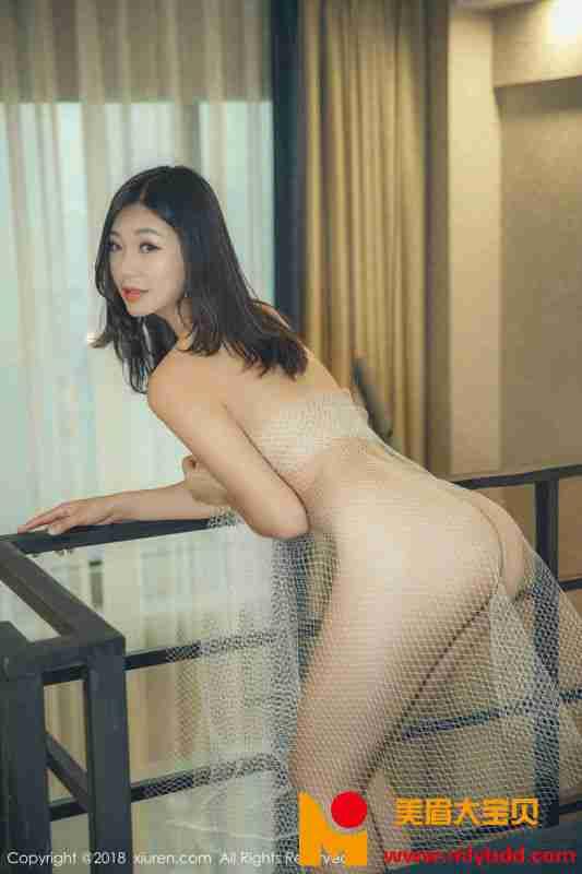 女神宋-KiKi私房白色薄纱裹身+红色胸带遮点完美爆乳诱惑写真