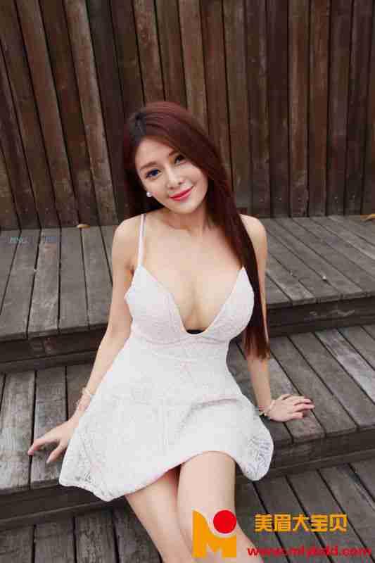 安希希 - 黑丝白裙赏 写真图片