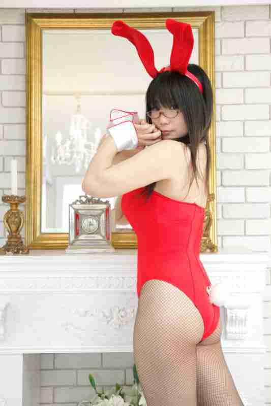 红色兔女郎妹子 套图