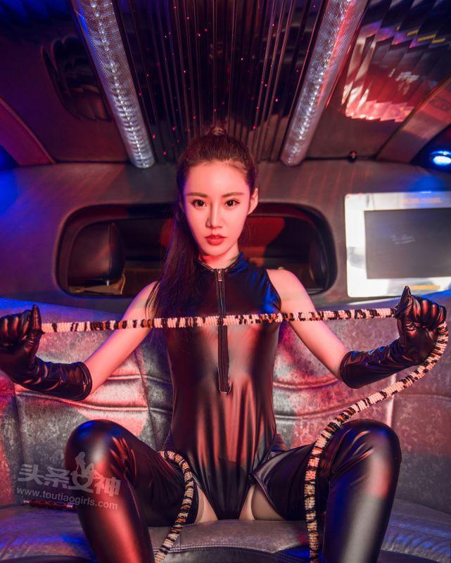 樊安妮 - 黑皮衣极绳拷问 写真套图