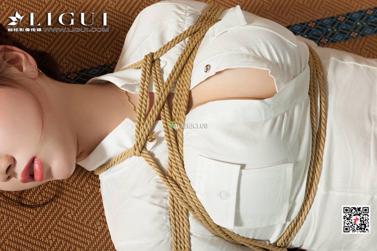 然然 - 黑丝OL绳艺捆绑 丝袜美腿写真套图