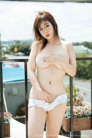 女神王雨纯济州岛旅拍户外白色蕾丝内衣湿身诱惑写真[41P]