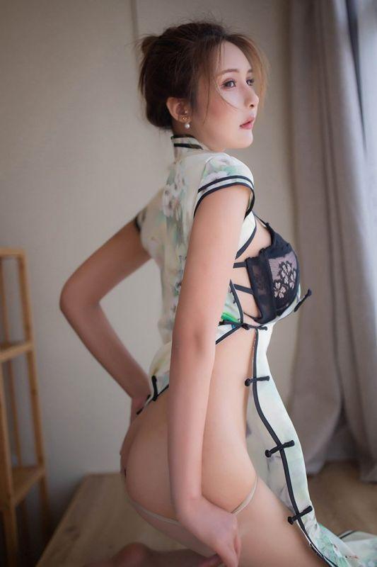 旗袍媚娘尹菲肉复古风情胴体诱人[42P]