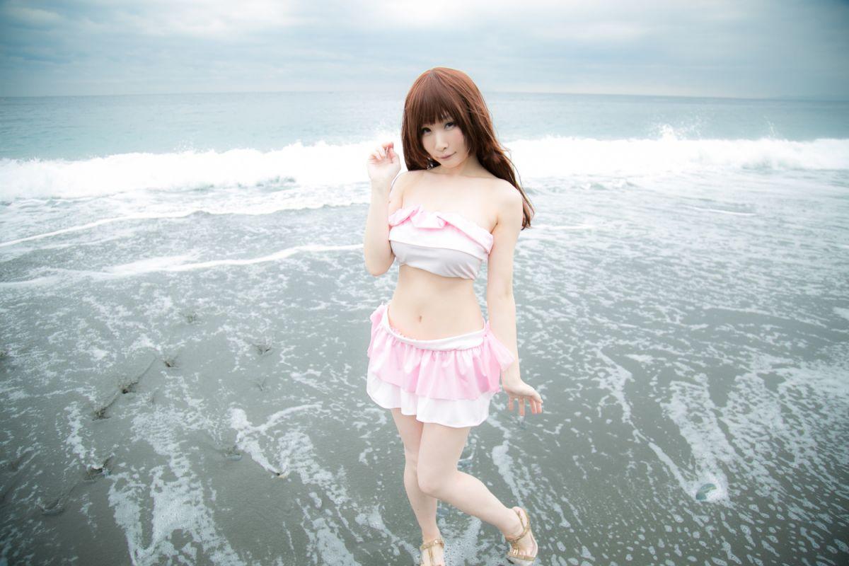 可爱的粉色泳装[33P]