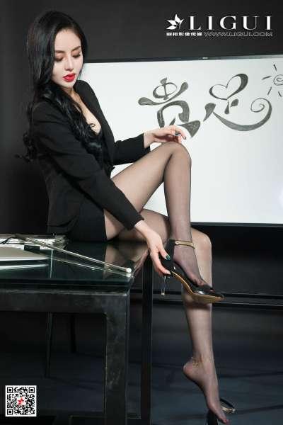 腿模凉儿 - 黑丝女白领诱惑图片