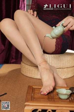腿模敏儿 - 蕾丝旗袍丝足诱惑性感图片