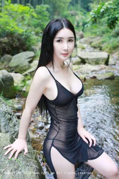 御姐化身清纯女神顾欣怡 - 夏日小溪套图欣赏