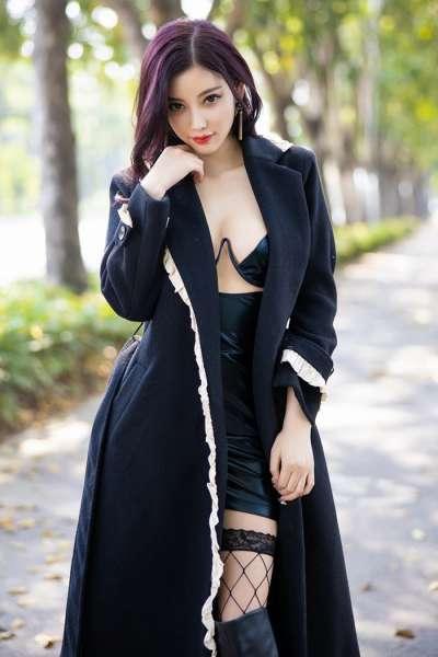 魅惑嫩模杨晨晨网袜美腿白皙迷人[28P]