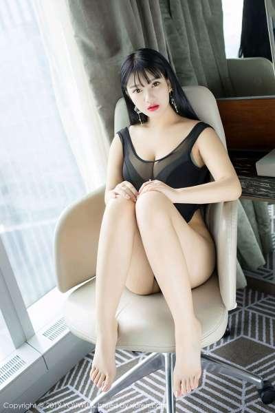 模特@小尤奈性感制服写真照片
