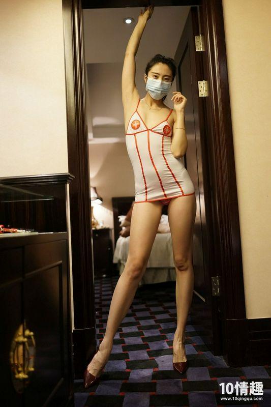 ROSI写真口罩系列 长腿制服诱惑